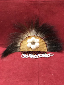Beadwork, Indigenous, Hair Clip, Skunk, Beads, Hide