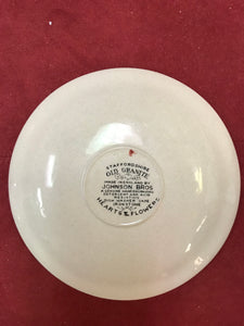 Johnson Bros. England, Old Granite. Hearts and Flowers. Saucers