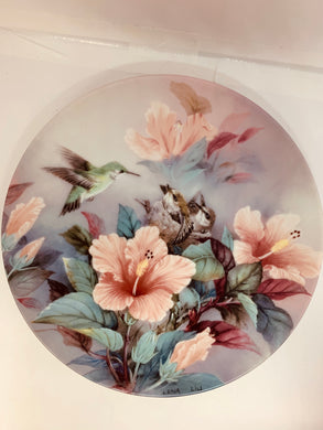 "Collector Plate- Lena Liu .  Nature's Poetry Series-  #4. ""Nature's Harmony"""