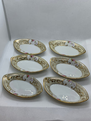 Salt Cellars.  Nippon.   Set of 6 individual Salt Cellars