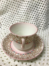 Load image into Gallery viewer, Adderley, England. Bone China.  Soft Pink/ Tan/ Light Blue
