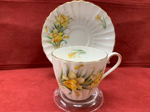 Tuscan, England.   Bone China. Cup and Saucer- Yellow Daffodils