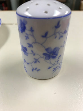 Breakfast Service, Arzberg, Germany, Bayern, Bone China, Salt Shaker, Blue and White