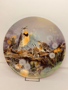 "Collector Plate- Lena Liu- .  Nature's Poetry Series- #11.  ""Mother's Melody"""
