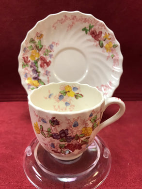 Copeland, Spode, Fairy Dell, Demitasse Cup and Saucer