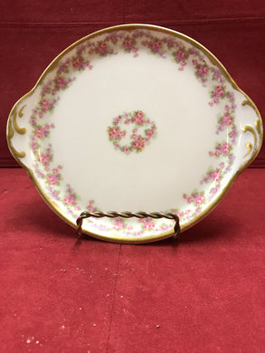Limoges, Bridal Wreath, small 2-handled plate