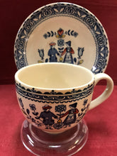 Load image into Gallery viewer, Johnson Bros. England. Old Granite, Hearts and Flowers. Cup and Saucer