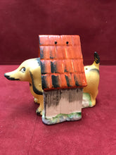 Load image into Gallery viewer, Salt and Pepper, Dachshund with Doghouse, Japan