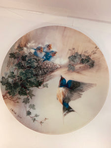 "Collector Plate- Lena Liu- .  Nature's Poetry Series- #12.  ""Cherub Chorale"""