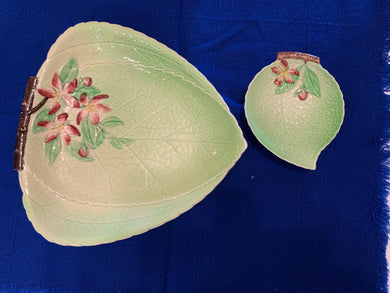 Carlton Ware. England. Serving Dishes- Leaf pattern with Dogwood ( set of 2)