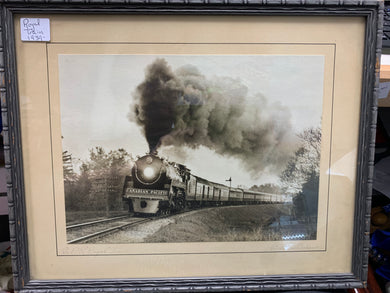 Print.  1939-Royal Train C.P.R.  sepia toned photograph