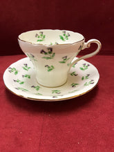 Load image into Gallery viewer, Aynsley, England. Cup and Saucer. Scotch Thistles