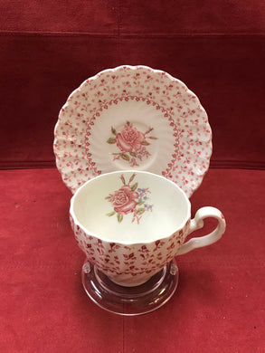 Johnson Bros. England.Cup and Saucer. Rose Bouquet,