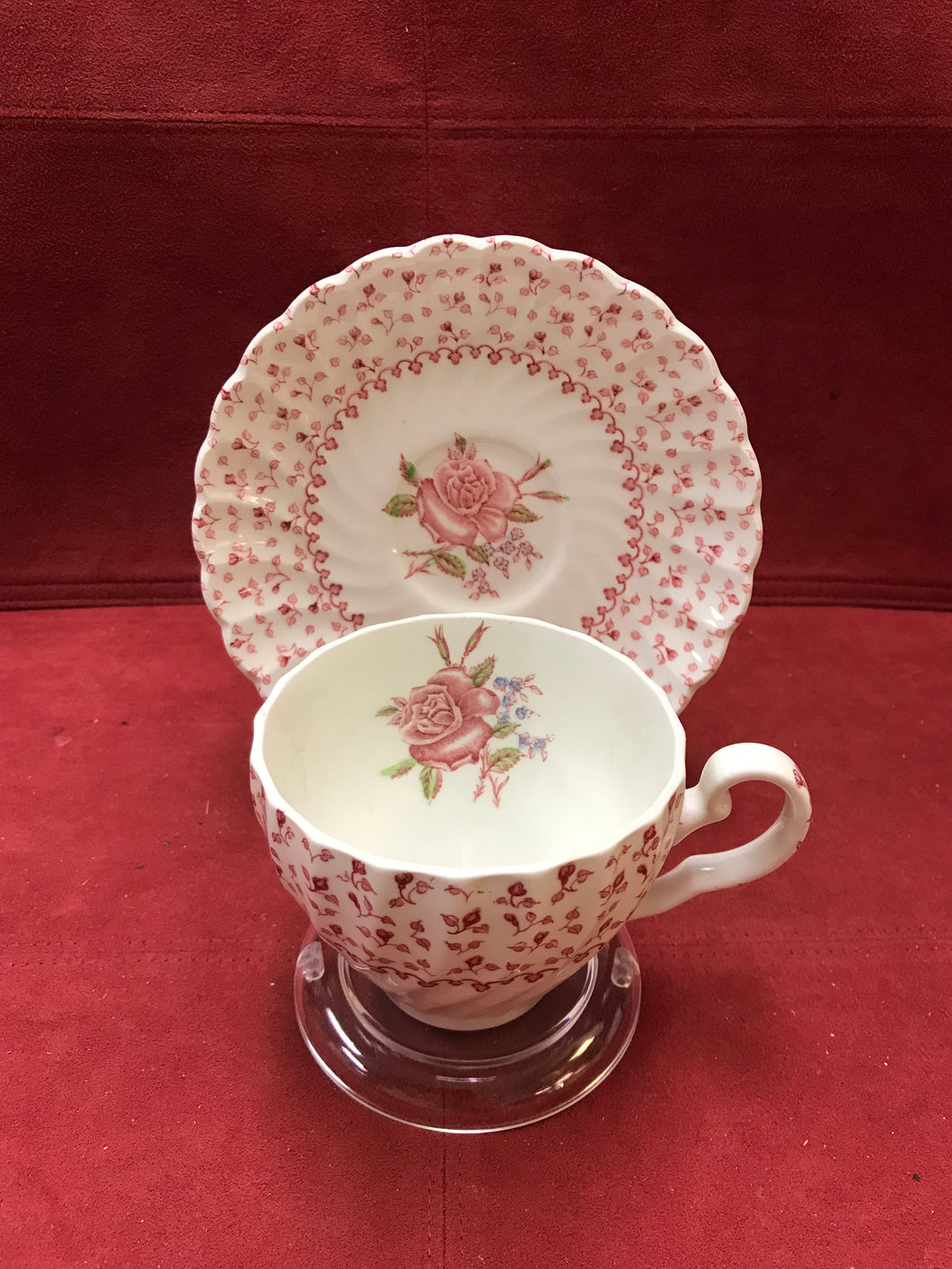 Johnson Bros. Rose Bouquet, Vintage, Cup and Saucer