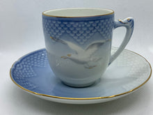 Load image into Gallery viewer, B G, Copenhagen, Blue and White, Seagull. Demitasse Cup and Saucer