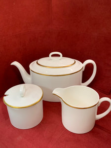 Wedgwood. Susie Cooper, England,  White with Gold.  Tea Service.  Saturn.