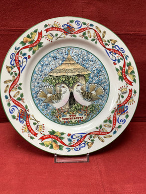 Royal Worcester,.  The 12 days of Christmas.  Plate #2