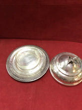 Load image into Gallery viewer, Butterdish, Silver Plated, Canada, Victorian 3 pc  Butter Dish, Round