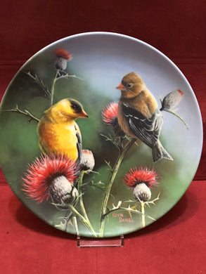 Collector Plate. The Goldfinch, by Kevin Daniels. 9-1/4