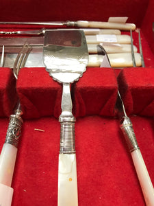 Flatware, Made in England. SS and EPNS with Mother of Pearl (43pc)