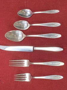 Flatware, Rogers Bros.- Silhouette-  Service for 8    (56 pcs) plus 8 utensils