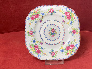 "Royal Albert, Petit Point, 6-1/8"" Bread and Butter Plate-Square"