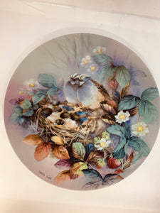 "Collector Plate- Lena Liu- .  Nature's Poetry Series- #3. ""Tender Lullaby"""