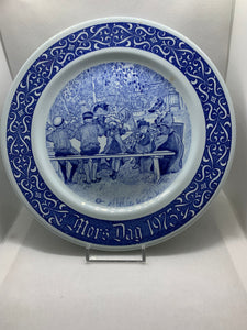 Collector Plate. Sweden. Boris Dag. 1973.  Blue and White.