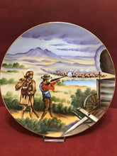 Load image into Gallery viewer, Collector Plate, Topline Imports, Inc. Japan,   Hunting Buffalo. 8""
