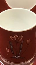 Load image into Gallery viewer, Susie Cooper,  Burgendy, Mocha or Yellow. Demitasse Cup and Saucer