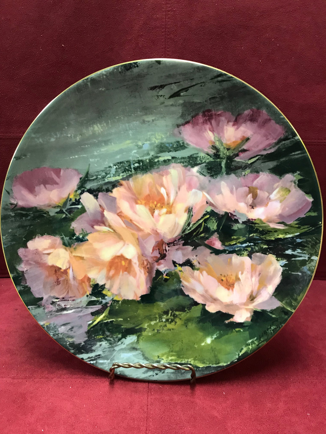 Royal Doulton.  Dreaming Lotus, by Hahn Vital.  Collector Plate.