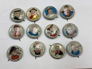 Collector Pins- Pep- Kellogg's- Comic Book Characters ( 12 PINS