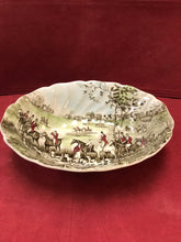 "Load image into Gallery viewer, Johnson Brothers, England. Tally Ho, Oval Vegetable Dish, ""The Meet: 8-3/4"" x 6-3/4"""
