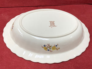Copeland-Spode- England.  Buttercup.  Oval Vegetable bowl- 10-1/2""
