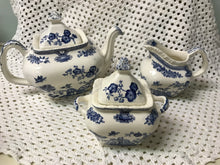 Load image into Gallery viewer, Mason's   3pc Tea Service, Blue and White