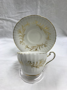 Paragon, England, Lafayette, Dinner Service for 8.   White and Gold  (43 Pcs)