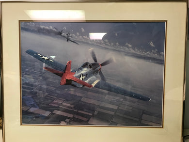 Print-Framed and Matted.  P-51 Mustang-  2 Down- 1 to Go   by William S. Phillips