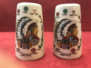 Japan. Collectible Salt and Pepper. Native Theme,