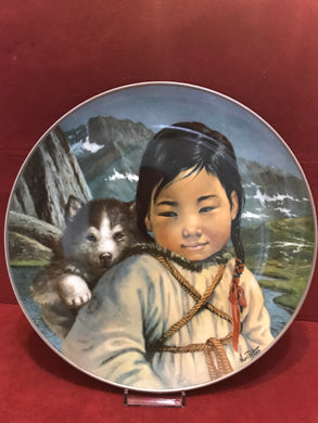 "Collector Plate. ""Jlaga-my friend"",   by Nori Peter.  10"""