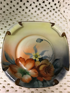 Noritake, Square dish, scrolled corners, antique