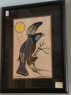 Original ,  Woodland Style,  signed, by Doug Kakekagumick