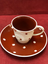 Load image into Gallery viewer, Susie Cooper, England, Coffee service for 8, Burgundy/White with Raised Comma Design