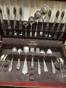 Rogers, Oneida, Sectional- Country Lane- 1954. Eight -6 piece Place Settings. (51 pcs total)