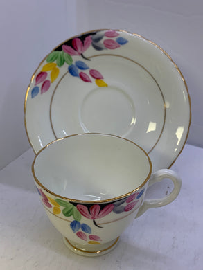 Delphine, England.  Cup and Saucer.   Flower Petals