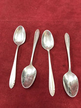 Load image into Gallery viewer, Flatware. 4 Demitasse Spoons, Oneida,  Lasting Spring.  1949