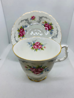 Royal Albert, England. Cup and Saucer.  Tranquility. Pink Roses