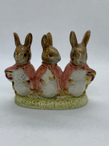 Figurine.  Beswick. England.  Beatrix Potter's. Floppy, Mopsy and Cottontail.  1954