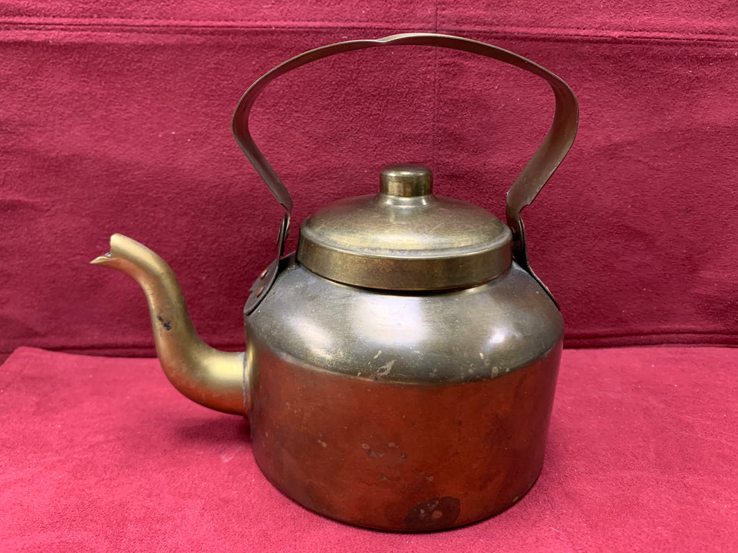Unmarked- Brass Tea pot.  Vintage