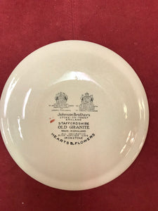 Johnson Bros. , England, Old Granite, Hearts and Flowers, Bread and Butter Plates
