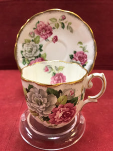 Royal Albert, England.  Demitasse Cup and Saucer.  Evening Rhapsody